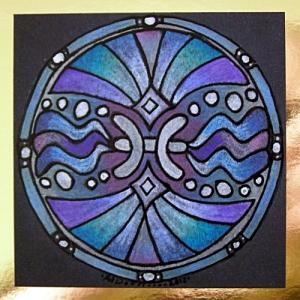 Pisces Card A © Angela Porter 2012