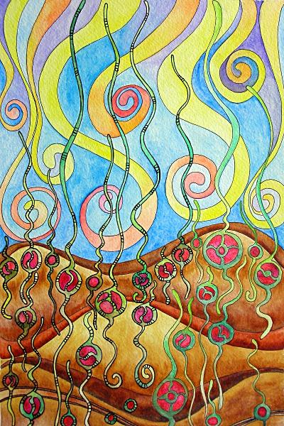 Planting seeds of love WIP 8Apr12 © Angela Porter 2012