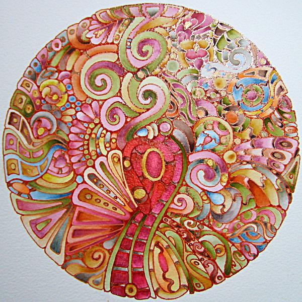 Earthy Mandala 13 June 2012 © Angela Porter 2012