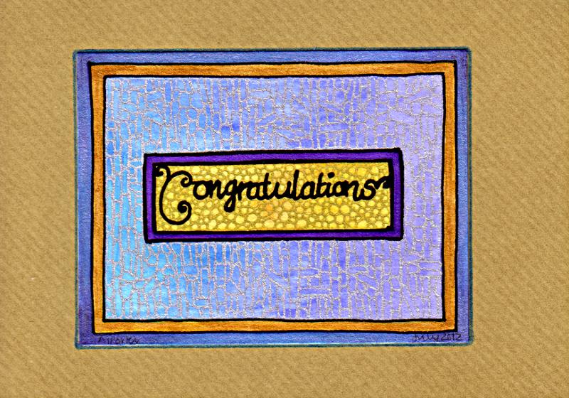 Congratulations Card 1 © Angela Porter