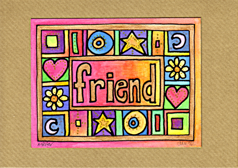 Friend Card © Angela Porter