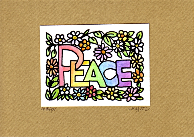 PeaceCard1©Angela Porter 2012