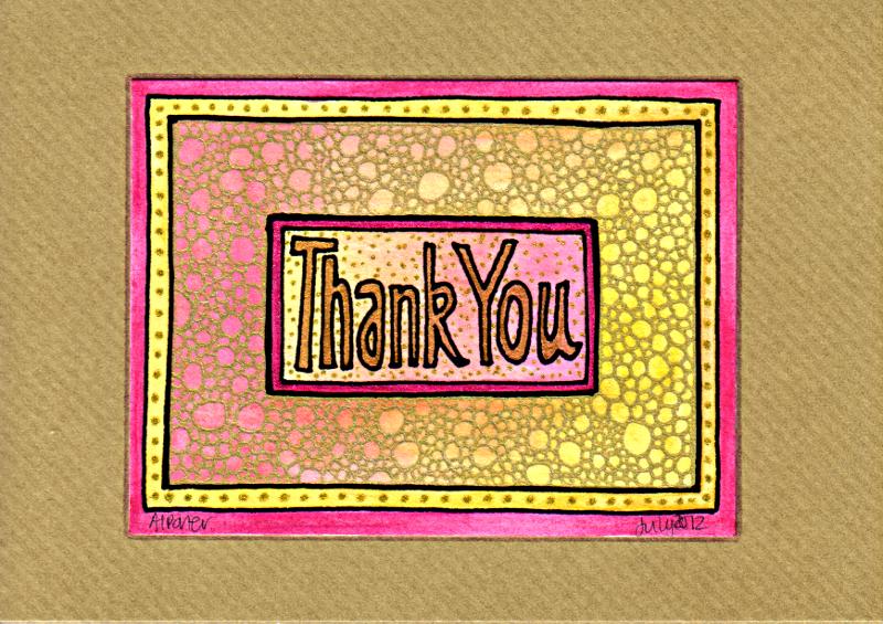 Thank You Card 2 © Angela Porter