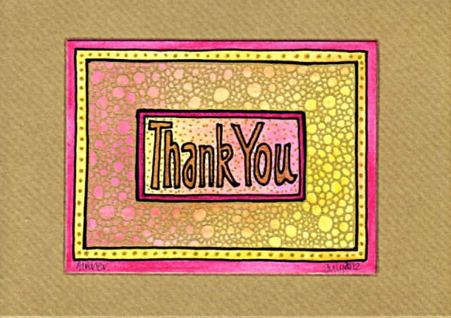 Thank You Card 2 © Angela Porter