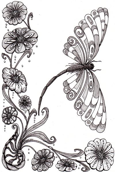 Dragonfly Away © Angela Porter 2012