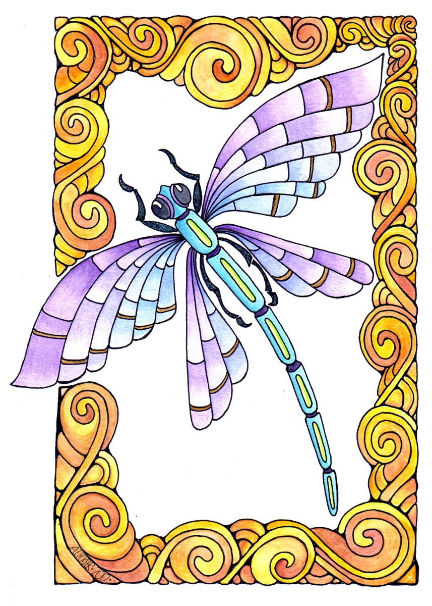 Dragonfly Spirals © Angela Porter 2012