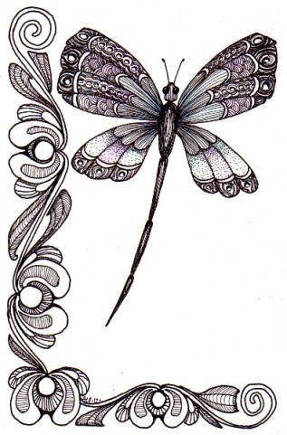 Tinted Dragonfly © Angela Porter 2012