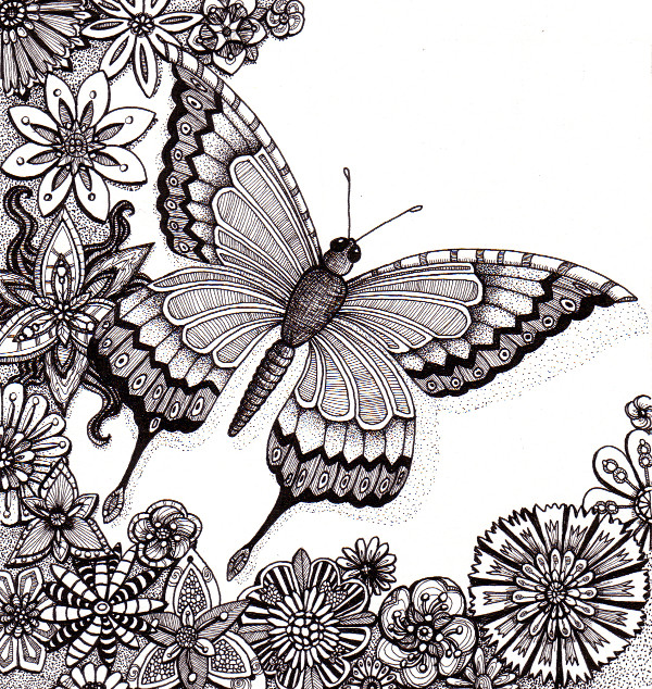 FlutterbyButterfly © Angela Porter 2012