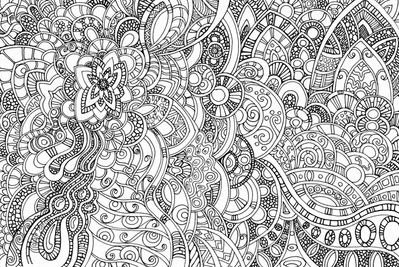 abstract doodle coloring pages - photo#37