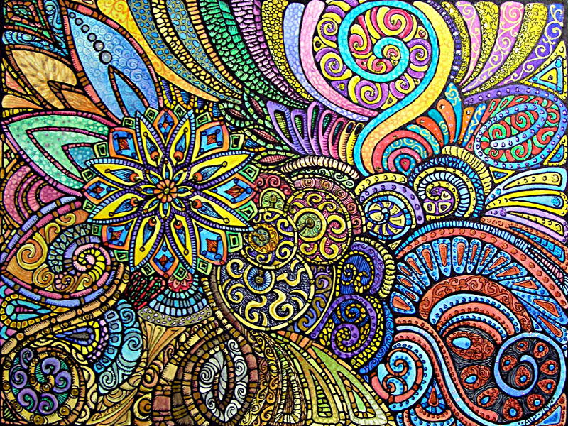 Let It Grow Coloured © Angela Porter 2013