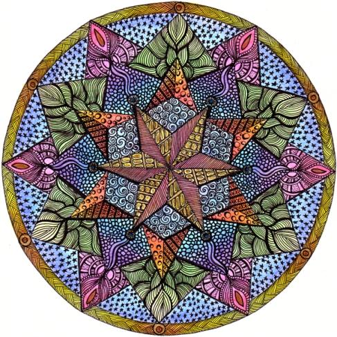 Theta Mandala 1 © Angela Porter 2013