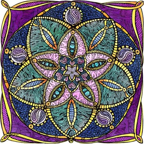 Theta Mandala 4 © Angela Porter 2013