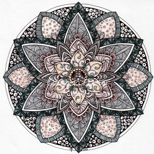 August Mandala 9 © Angela Porter 2013