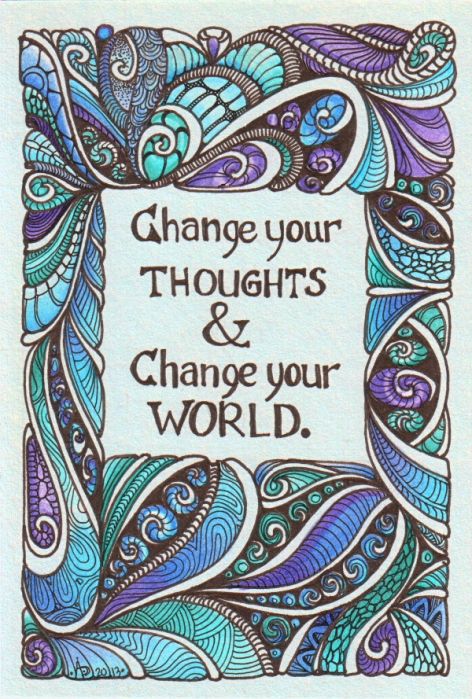 Change your thoughts © Angela Porter 2013