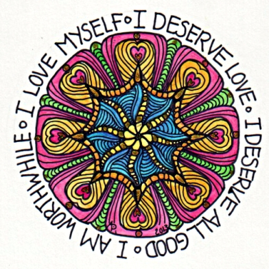 I Love Myself Mandala © Angela Porter 2013