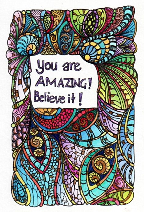 You Are Amazing © Angela Porter 2013