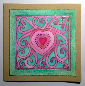 Heart Card by Angela Porter