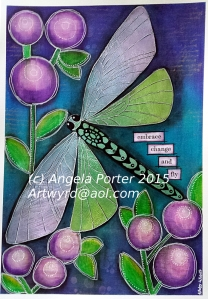 embrace change and fly 1 by Angela Porter