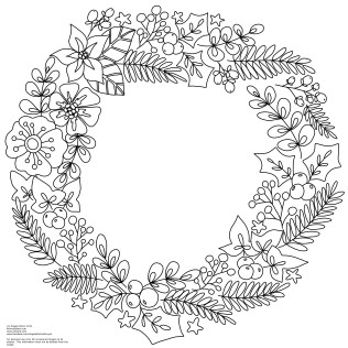 Christmas Wreath Coloring Pages 6 Nice For Kids - Christmas Wreath ... | 316x316