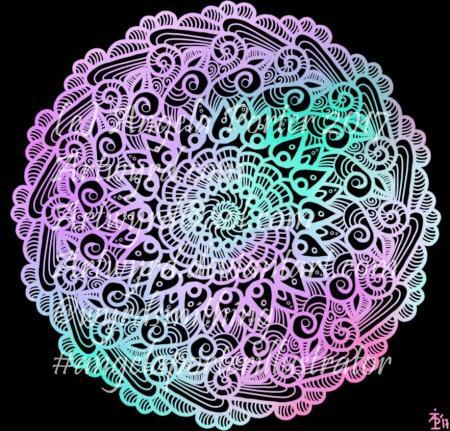 Rainbow Mandala01-Angela Porter