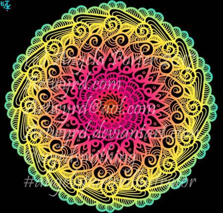 Rainbow Mandala06-Angela Porter