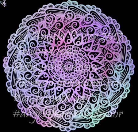 Rainbow Mandala07-Angela Porter