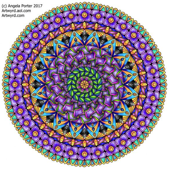 AngelaPorter 13 Aug 2017 Birthday Mandala1