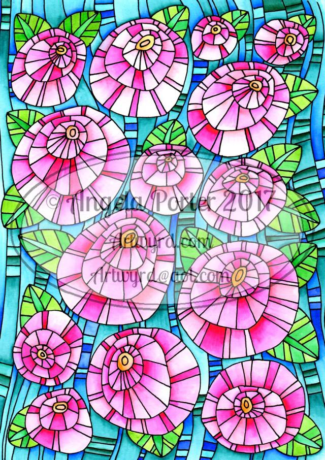 Angela Porter Bright Flowers Watermarked