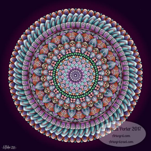 Mandala 29 Dec 2017 by Angela Porter