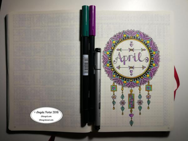 Angela Porter April BuJo Cover