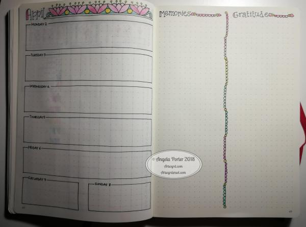 Angela Porter April Weekly Spread