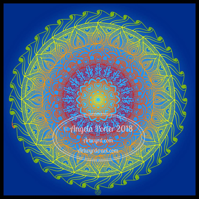 Angela Porter Inktober 2018 Day 29 'Double' coloured