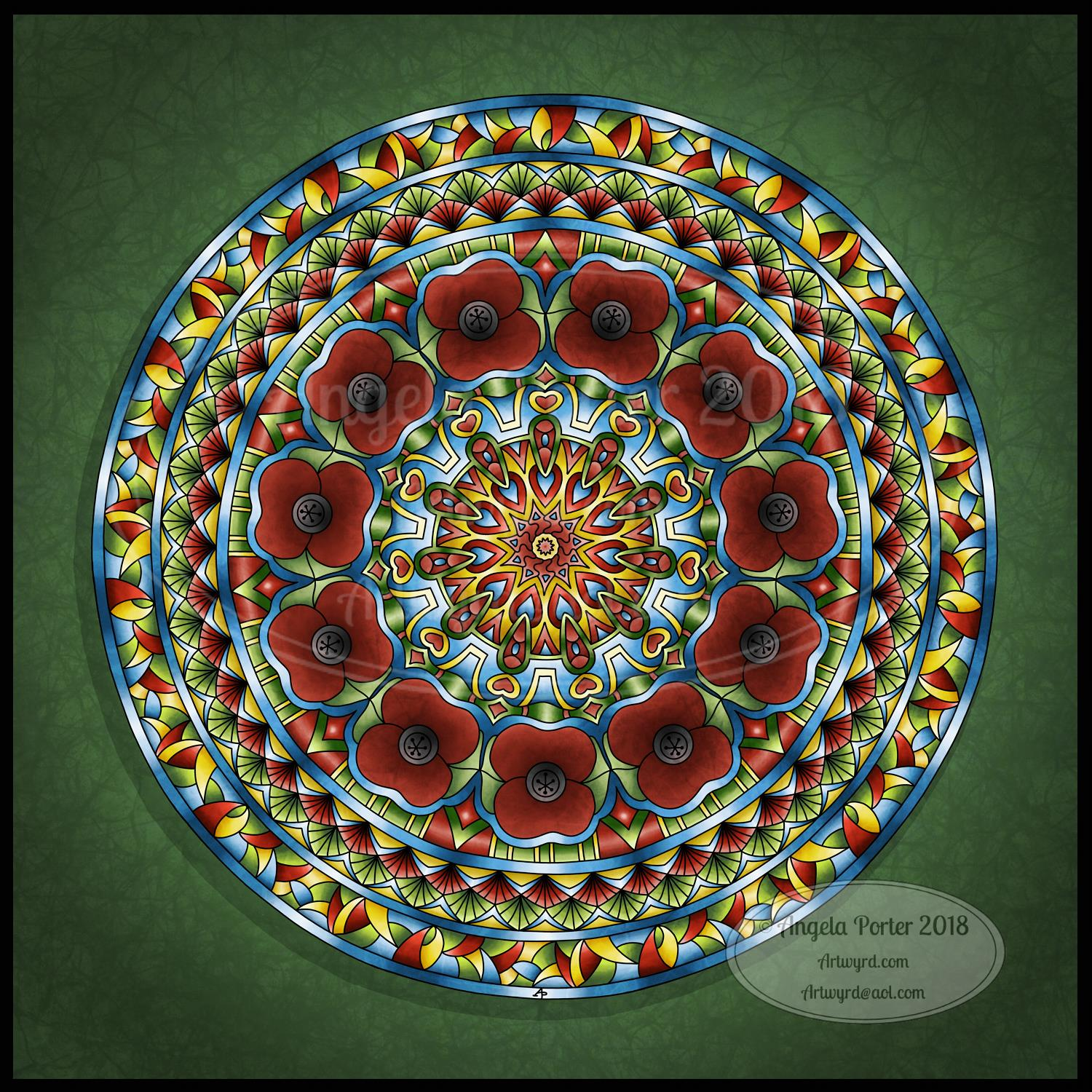 Angela Porter Remembrance Mandala 2018