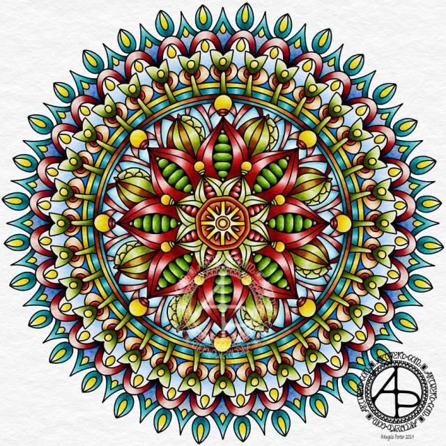 Mandala 10 March 2019 ©Angela Porter 2019 - Artwyrd.com
