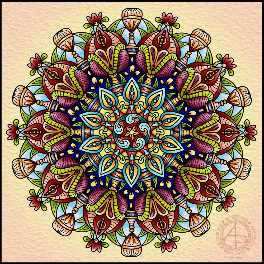 Mandala 21 March 2019 © Angela Porter