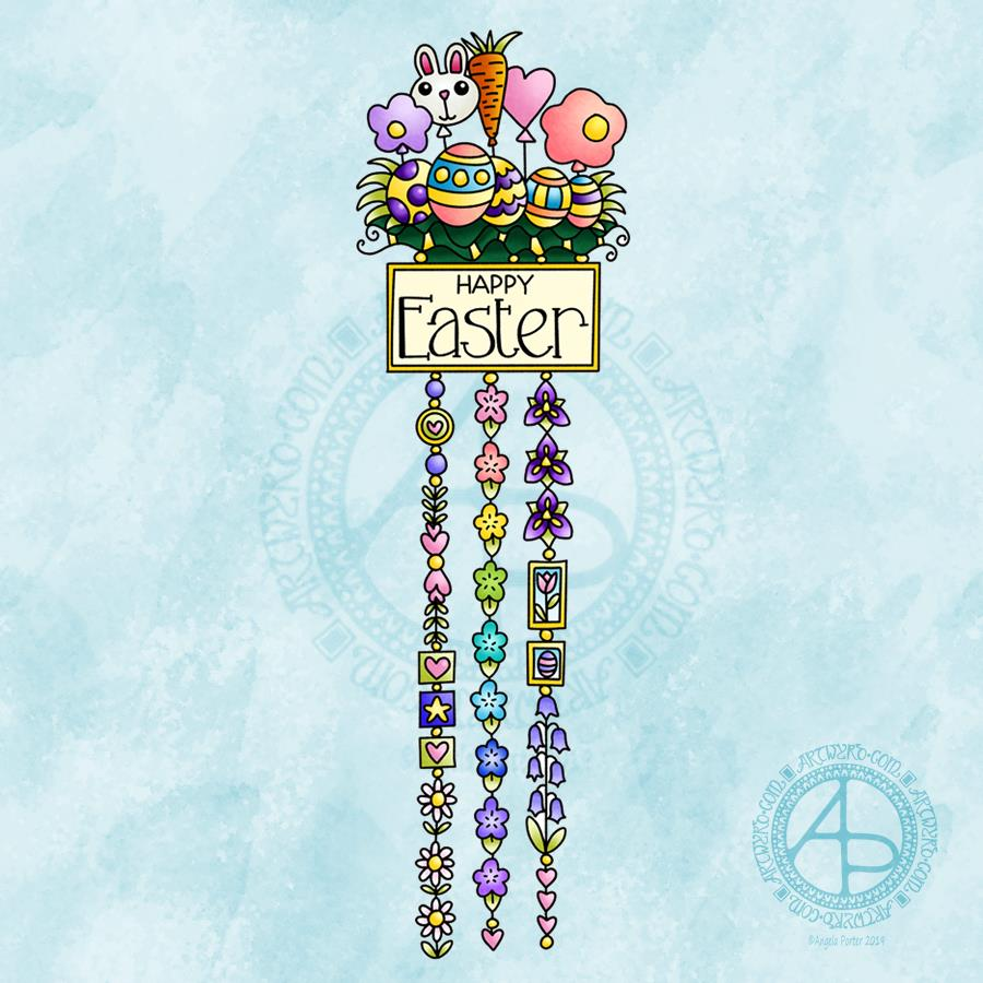 Easter Dangle Design © Angela Porter  From 'A Dangle A Day'