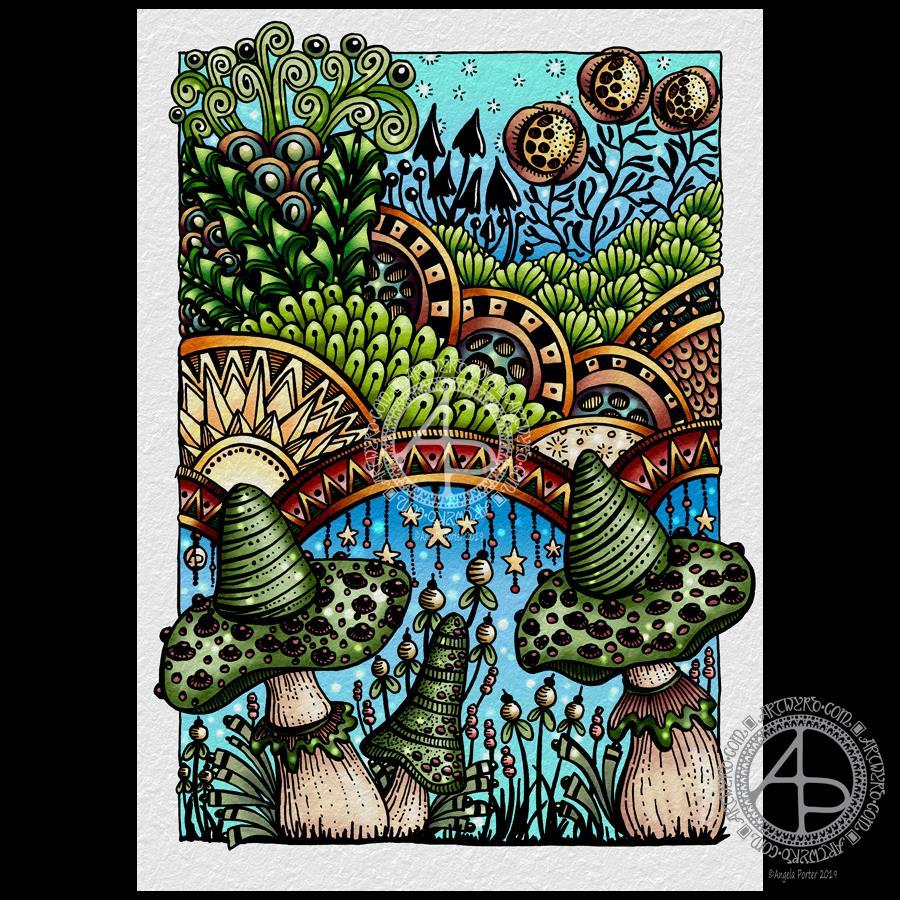 Entangled Fantastic Fungi © Angela Porter 2019 - Artwyrd.com
