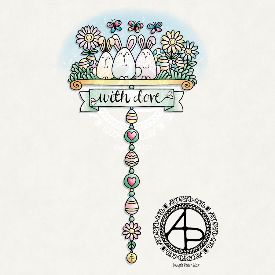 Easter Dangle Design ©Angela Porter 2019 - Artwyrd.com