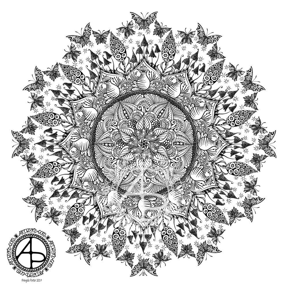 Mandala © Angela Porter 2019 - Artwyrd.com