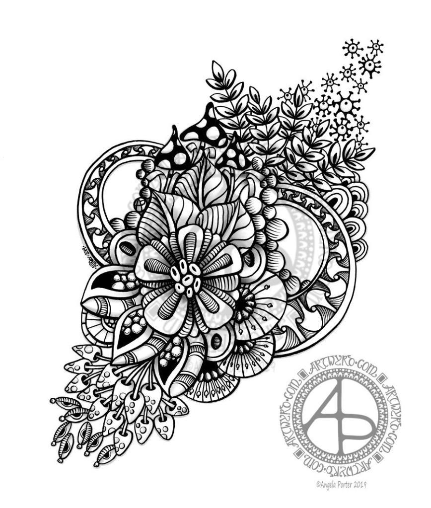 Abstract Floral Design 4 May 2019 ©Angela Porter - Artwyrd.com
