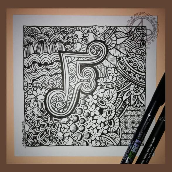 Entangled Monogram F ©Angela Porter 2019 - Artwyrd.com