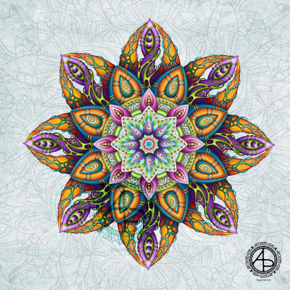 Mandala WIP - update © Angela Porter 2019 - Artwyrd.com