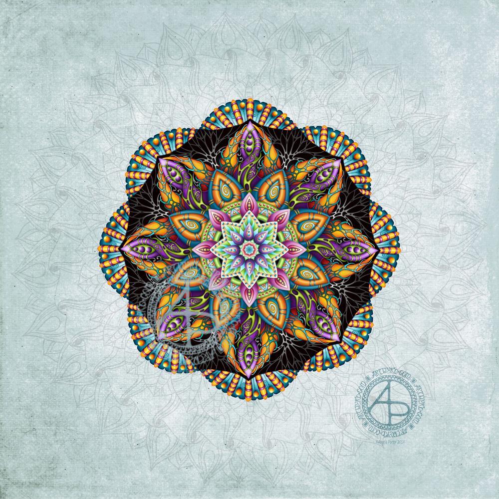 Mandala WIP © Angela Porter 2019 Artwyrd.com