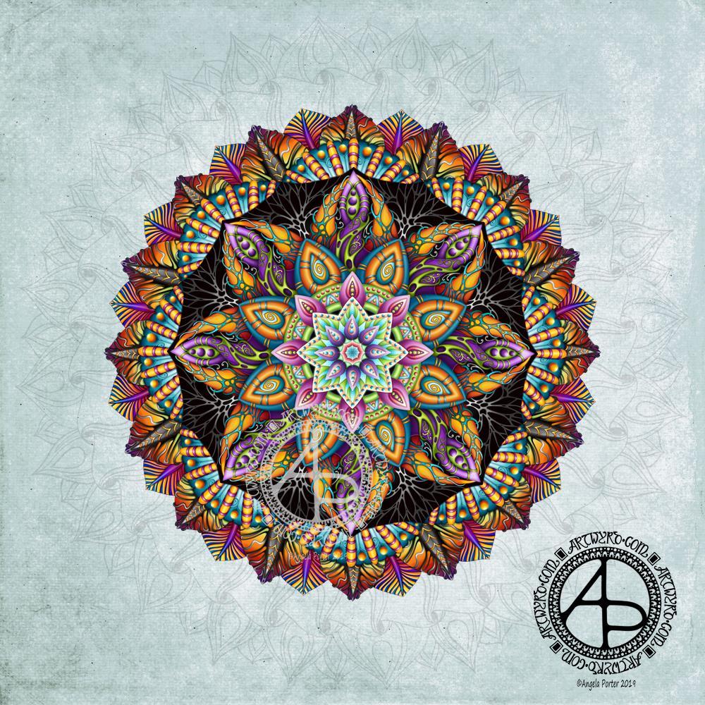 Amazing Mandala © Angela Porter 2019 Artwyrd.com