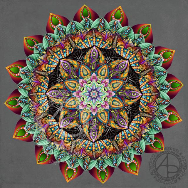 Amazing Mandala-nearly done ©Angela Porter 2019 Artwyrd.com