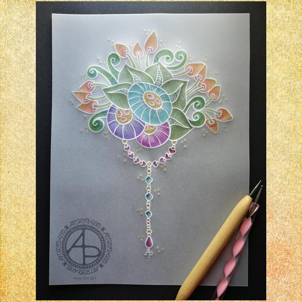 Summer Solstice Dangle Design © Angela Porter 2019 Artwyrd.com