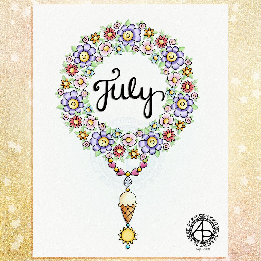 July 2019 Dangle Design © Angela Porter | Artwyrd.com