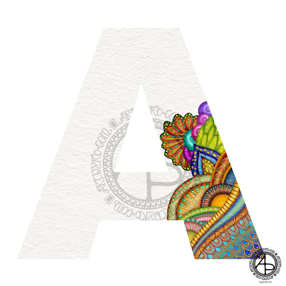 WIP Monogram A © Angela Porter |Artwyrd.com
