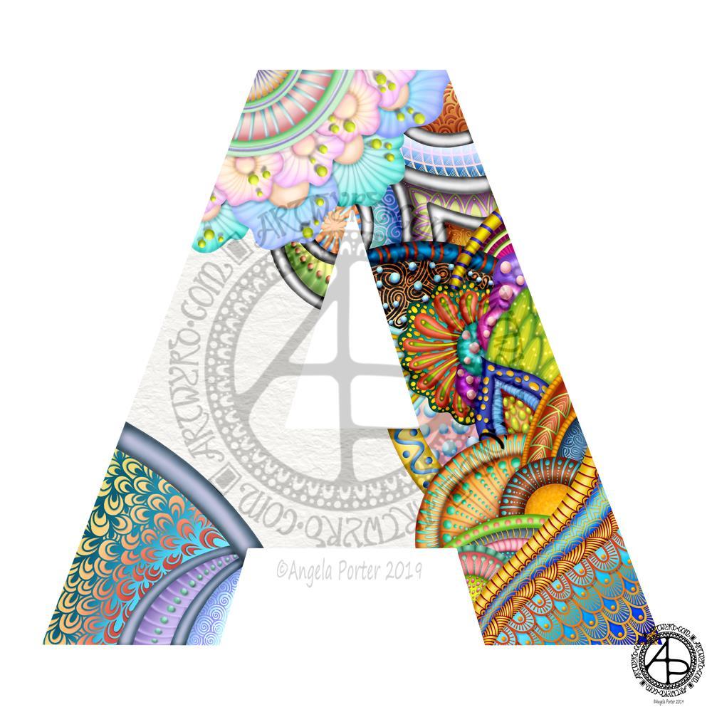 Monogram A WIP ©Angela Porter | Artwyrd.com