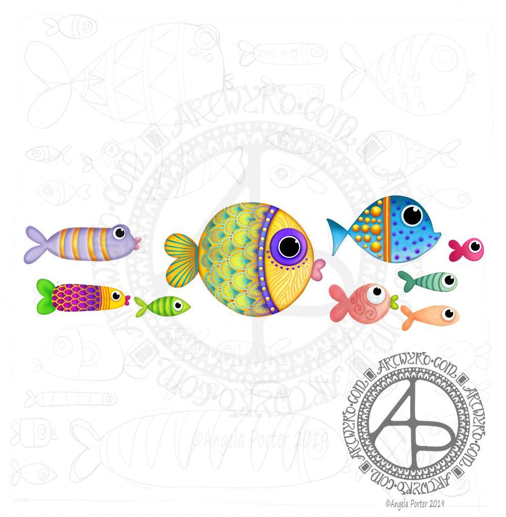 Fish! A WIP © Angela Porter | Artwyrd.com